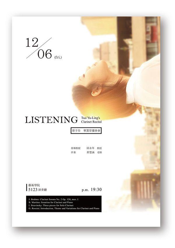 senior recital poster idea