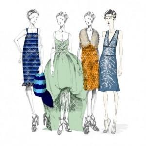 Miuccia Prada sketches