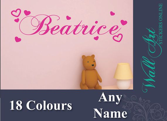 Girls Bedroom wall art sticker. Customised name by ColwellDesign, £5.99