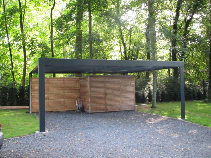 Carport i kubistisk design enkelt carport og dobbelt