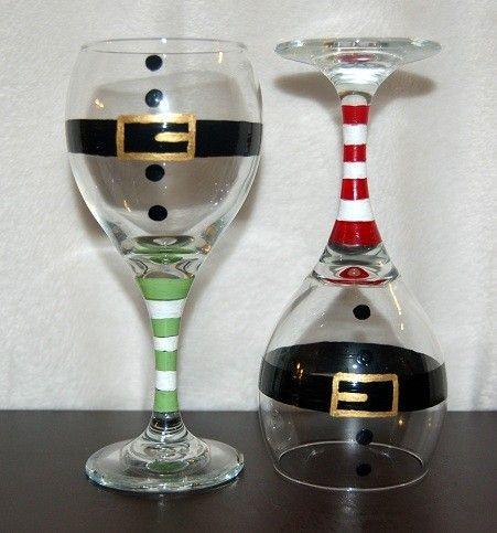Christmas Wine Glasses#Bemorefestive #Choosetobemorefestive @Marisa McClellan McClellan Pennington Foster