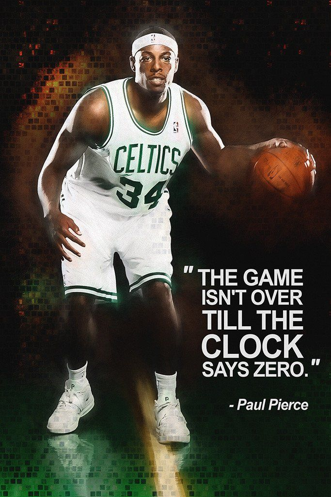 Paul Pierce Quotes Nba Basketball Sayings Poster