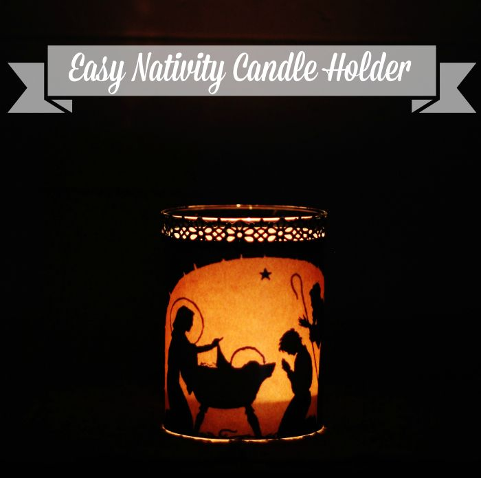 Easy Nativity Candle Holder - #DIYGift - When you live in the country, and you don't have curbside recycling, by necessity, you start getting crafty with all th…