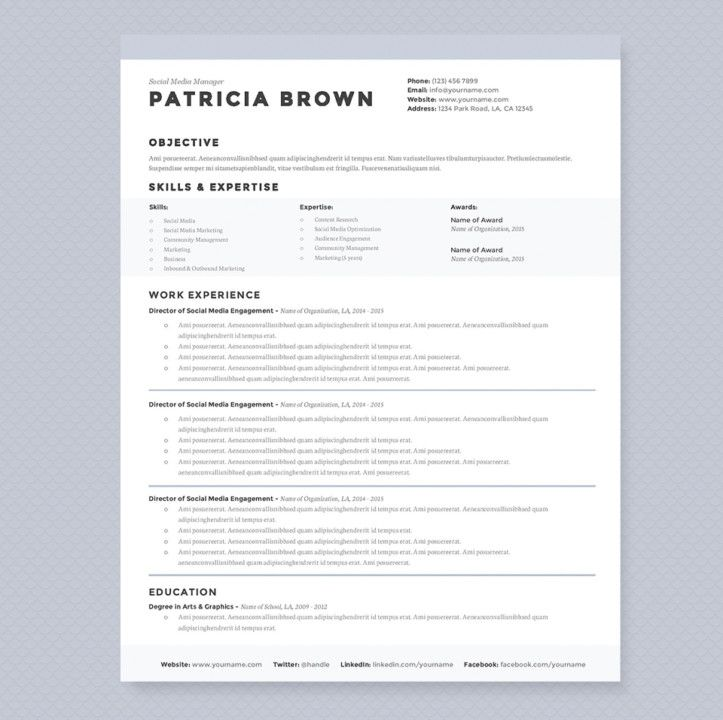clean student resume template