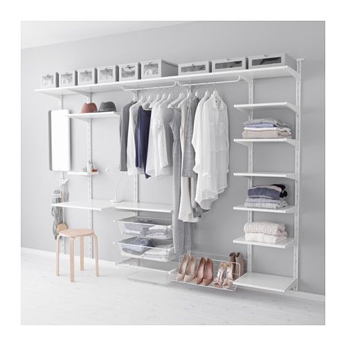 IKEA - ALGOT, Wall upright/shelf/triple hook, The parts in the ALGOT series can be combined in many different ways and so can easily be adapted to needs and space.Can also be used in bathrooms and other damp areas indoors.You click the brackets into the ALGOT wall uprights wherever you want to have a shelf or accessory – no tools needed.
