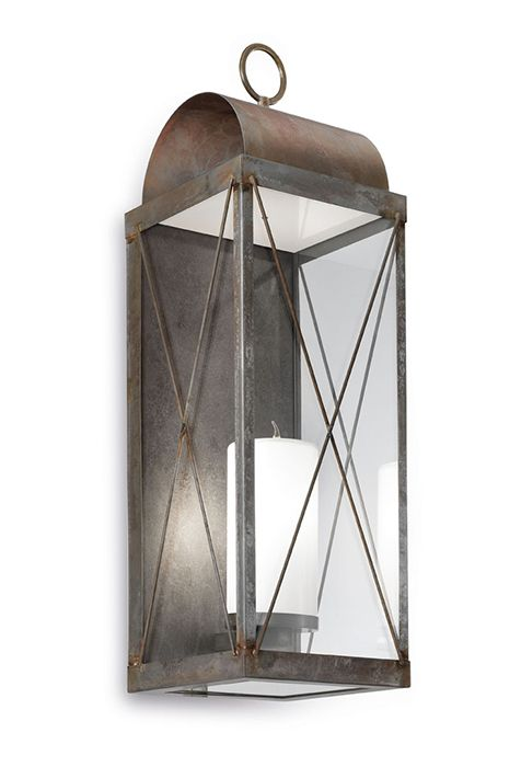 Applique Lanterne Iron / Iron Brass / Brass (265.14)
