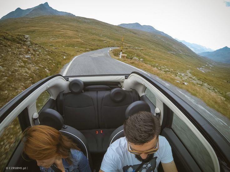 Gopro. Passo di Gavia. Fiat 500C