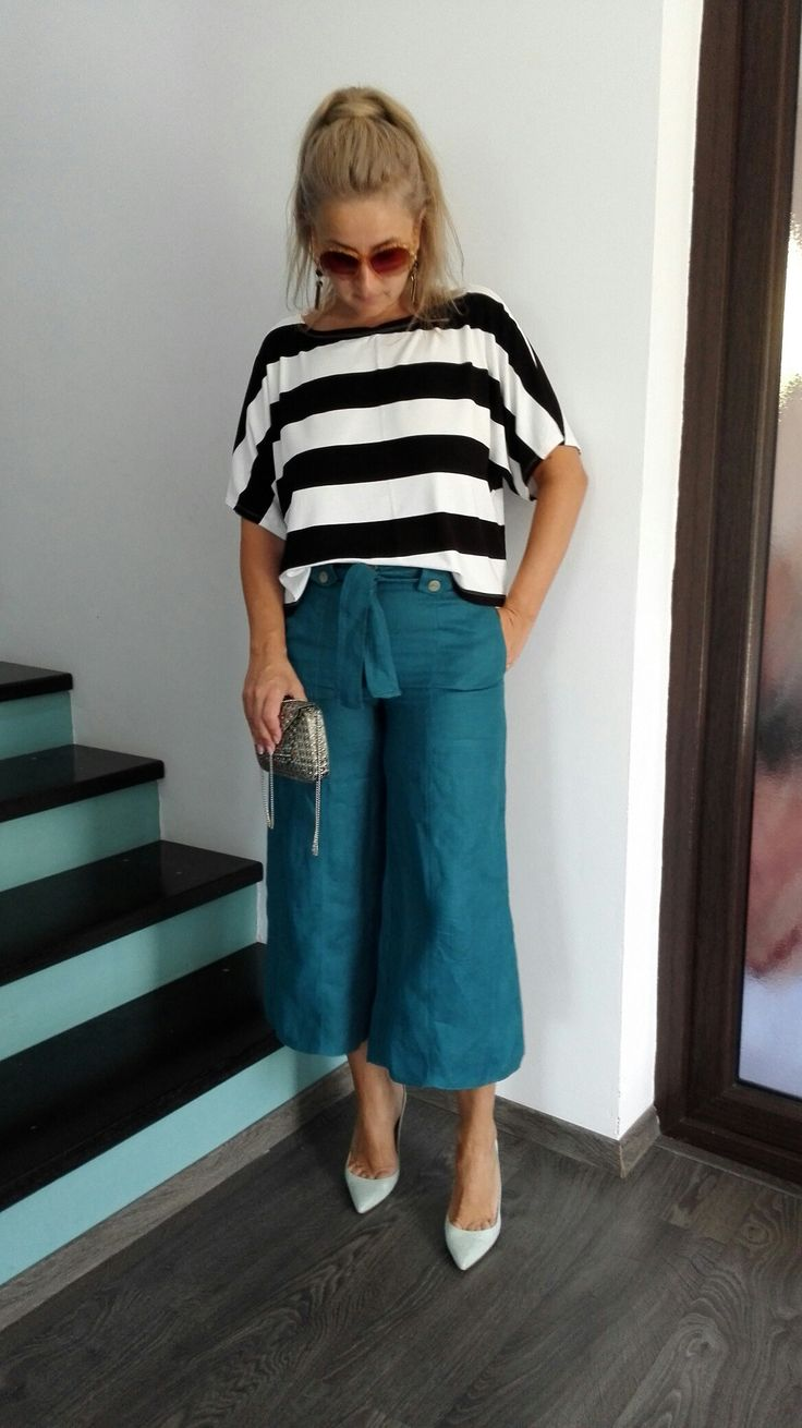 Culottes and stripes