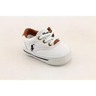 SO itty-bitty! Ralph Lauren Layette Boy (Infant)'s 'Vaughn' Canvas Casual Shoes.