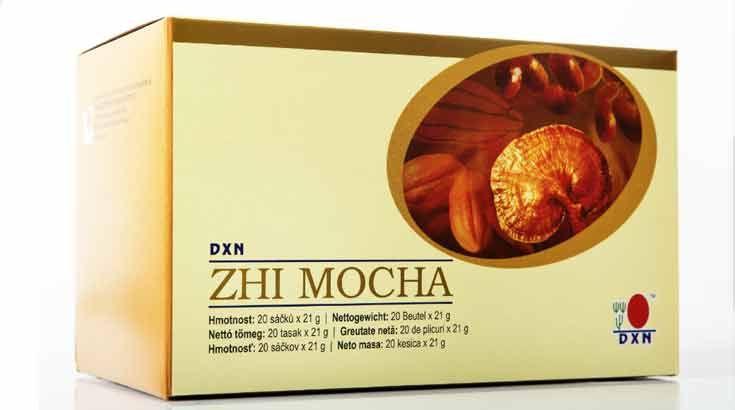 Zhi Mocha válogatott kávészemekből készült instant kávépor, ganodermakivonat és kakaópor keveréke. Nincs benne mesterséges színezőanyag és tartósítószer.