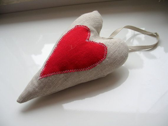 Christmas heart ornament on a Christmas tree by LolaaCreates, zł19.00