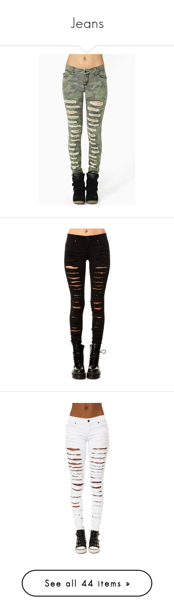 """""""Jeans"""" by neverland-is-just-a-dream-away ❤ liked on Polyvore featuring jeans, pants, bottoms, pantalones, calças, camo, green jeans, stretch jeans, stretch skinny jeans and camo jeans"""