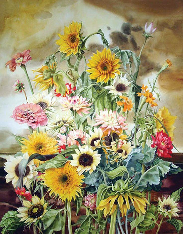 Inness-Floral / Stephanie Anderson / 19.5x19_28x28FR