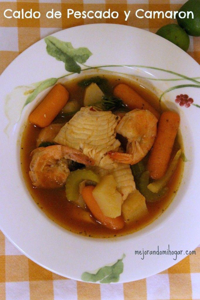 Receta Para Preparar Caldo De Pescado Y Camarón Caldo De Pescado Caldo De Pescado Receta Sopa De Mariscos Receta