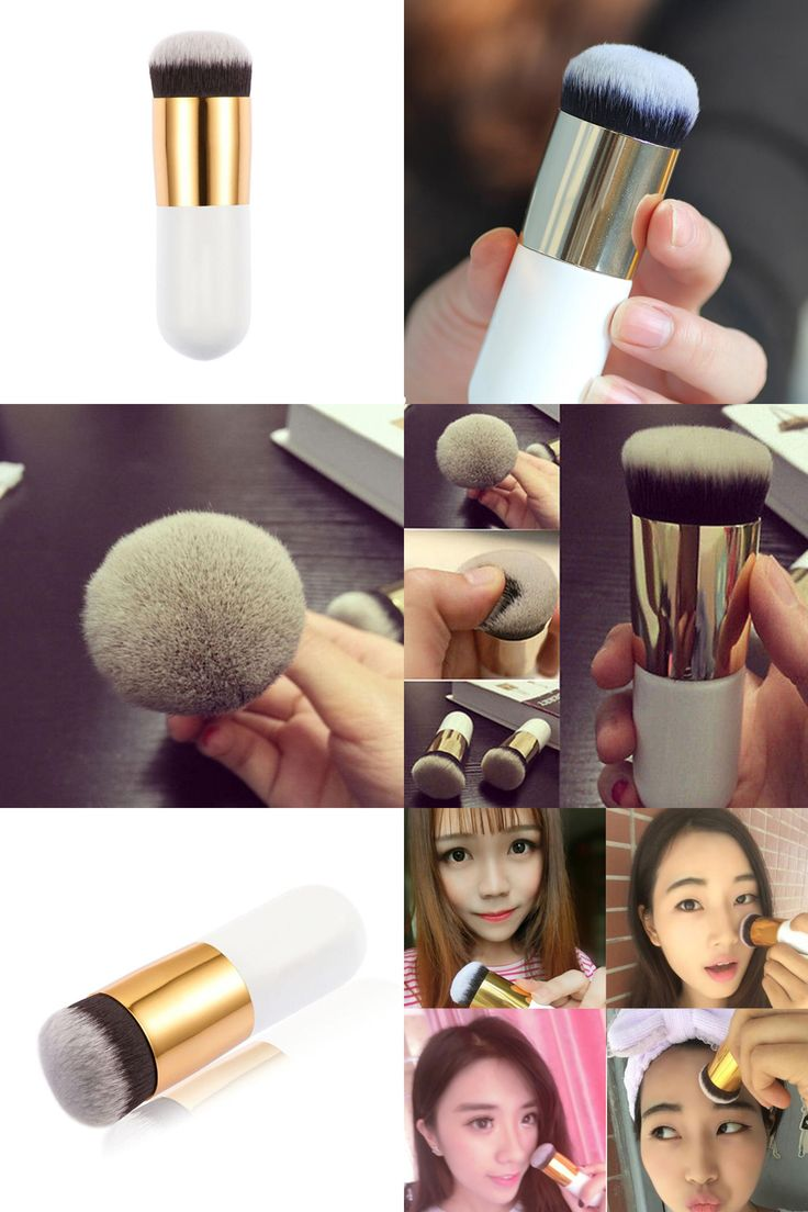 [Visit to Buy] 1PCS Professional  Round Flat Fead Makeup Brush for Liquid Foundation Base BB cream Cosmetic Foundation Brushes Tool #Advertisement