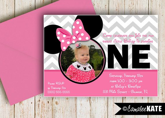 32 best Birthday Invitations images – Minnie Mouse Personalized Birthday Invitations