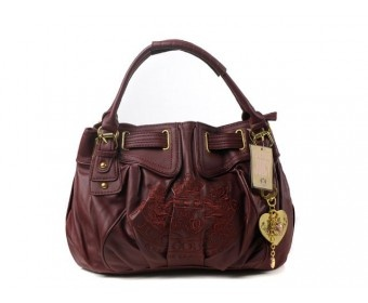cheap - Cheap Juicy Couture Leather Scottie Free Style Bags - Maroon - Wholesale Discount Price    Tag: Discount authentic Juicy Couture handbags Hot Sale, Cheap Juicy Couture Handbags New Arrivals, Original Juicy Couture Purses outlet, Wholesale Juicy Couture bags store