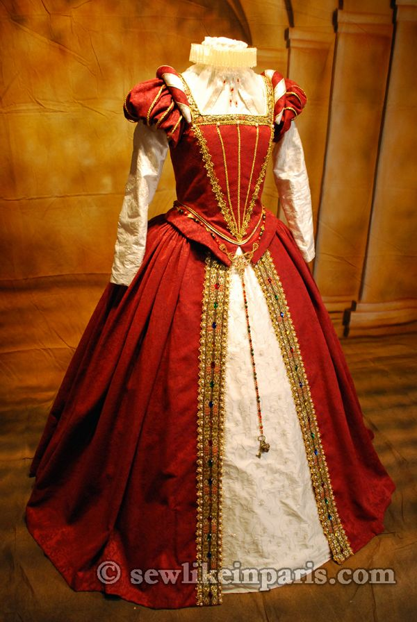 Elizabethan Red Gown | Tudor Costume
