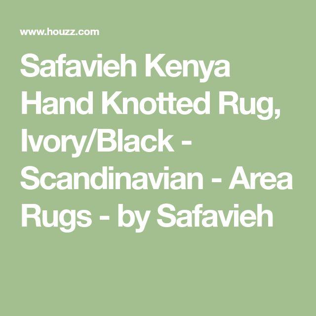 Safavieh Kenya Hand Knotted Rug, Ivory/Black - Scandinavian - Area Rugs - by Safavieh