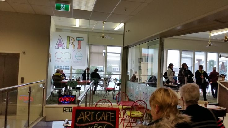 Lunch at Art Cafe in New Plymouth.