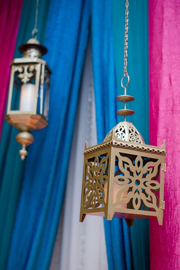 Pretty hanging lantern decor