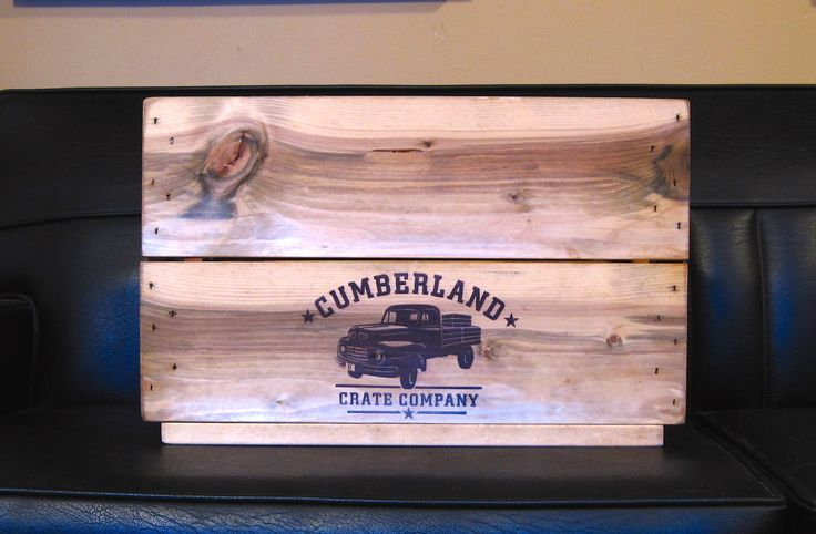 Our all-natural, food-safe Antique treatment makes any crate look brilliantly aged. Here's an example of our Antique stain on a Funk Jr crate. www.cumberlandcratecompany.com