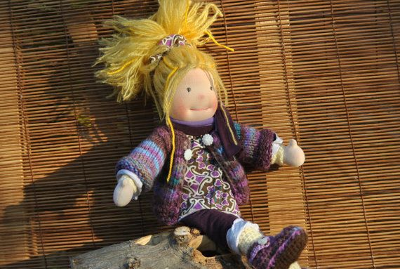 Waldorf doll girl by MeseHely on Etsy
