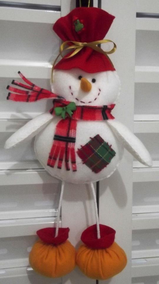 Muñeco de nieve de fieltro: