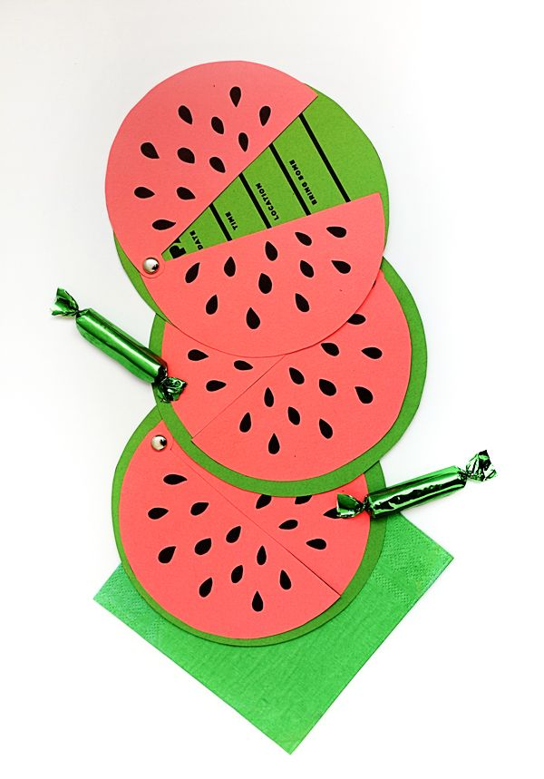 DIY Printable Watermelon Invites | Oh Happy Day!