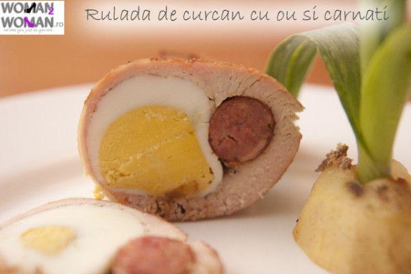 Rulada de curcan cu oua si carnati