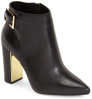 gorgeous ted baker booties - love the gold heel detail