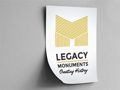 Past Project: Legacy Monuments logo design draft by iFactory.