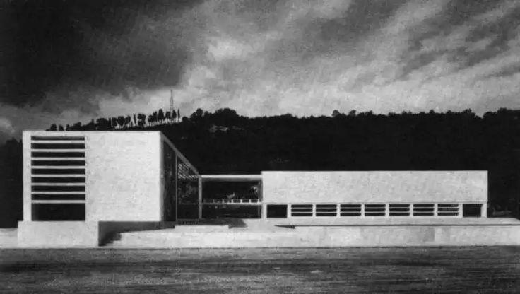 Fencing academy at the Foro Mussolini Luigi Moretti, 1933-36