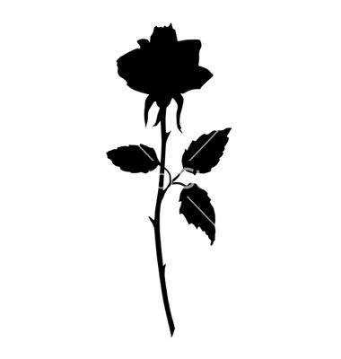 Black Rose Silhouette Tattoos Pictures to Pin on Pinterest ...