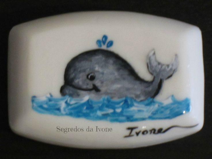 SA50-  Pintura em sabonete - motivo baleia