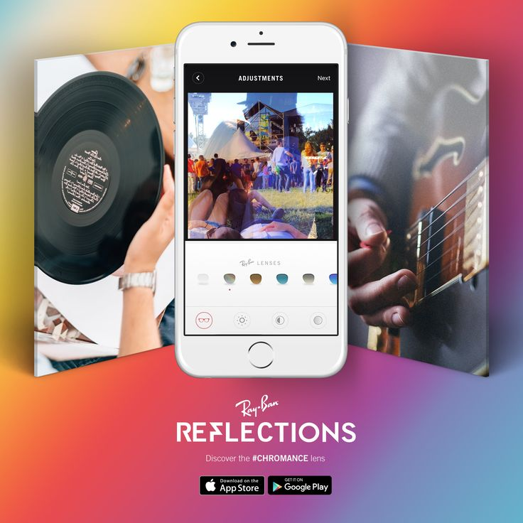 Let every image tell a story // Layer and edit your pics with our #Chromance lens, now available in our #Reflections photo app for iOS and Android