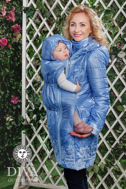 Medium Warm Babywearing Coat with Back carry is a medium warm lightweight coat that meets all your babywearing needs. Free shipping!