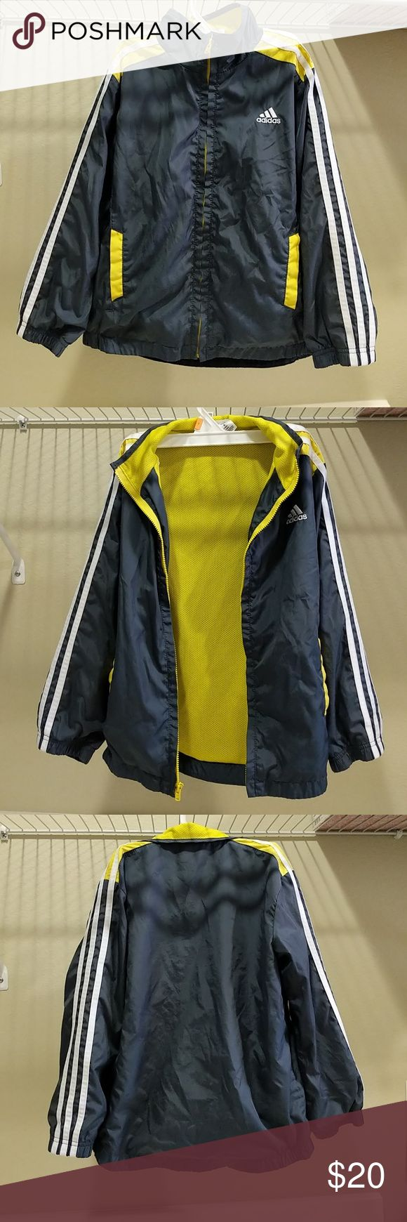 Adidas - Boy Windbreaker @tea_n_yoga at Poshmark  Adidas boy windbreaker. Good condition. Side pockets. Zipper works. No stain. adidas Jackets & Coats Raincoats