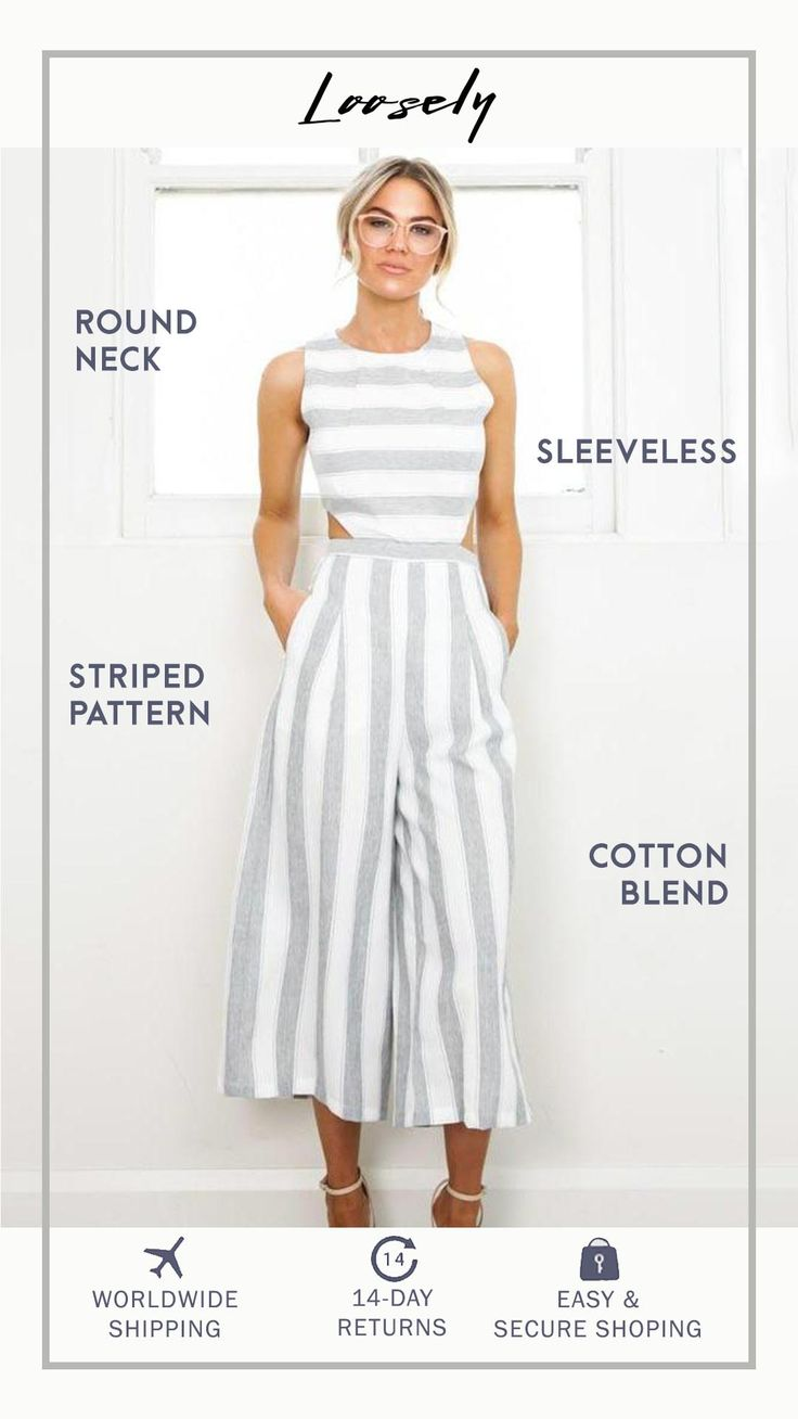 Striped Summer Jumpsuit 17