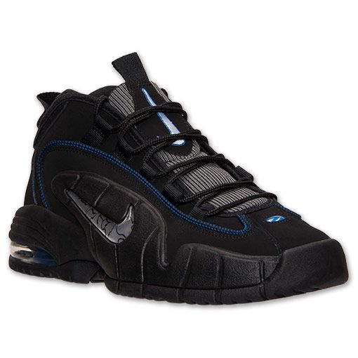 best service 32877 676fe ... mens nike air max penny basketball shoes finish line black white game  ...