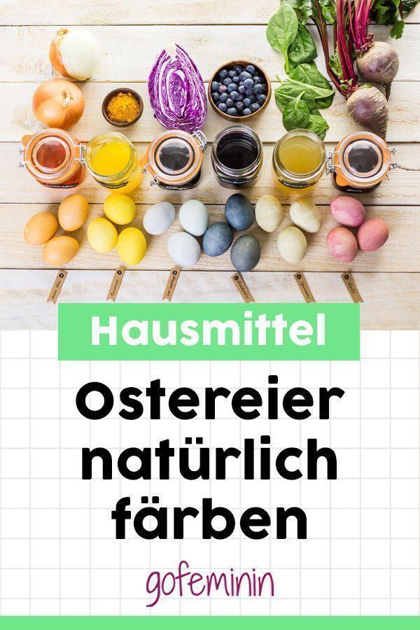 Ostereier natürlich färben: Mit Zwiebeln, Rote Beete & Co. – #Beete # färben …