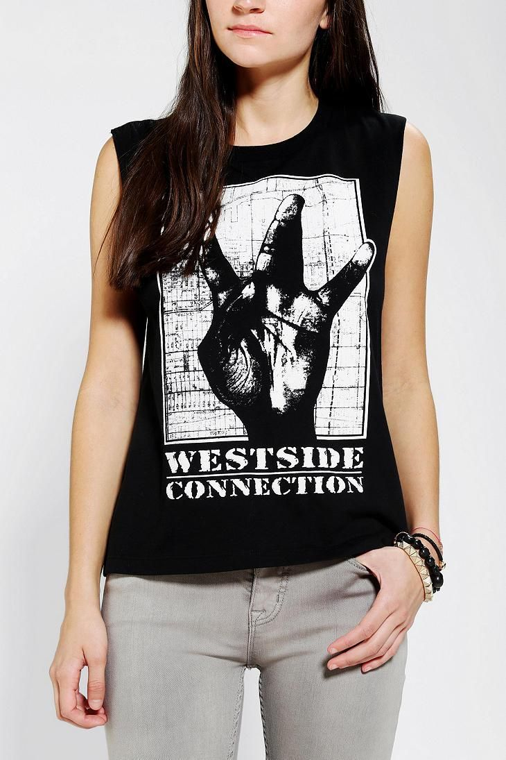 Westside Connection Muscle Tee LOL - Sara & Heidi maybe they have matching WuTangClan tees?