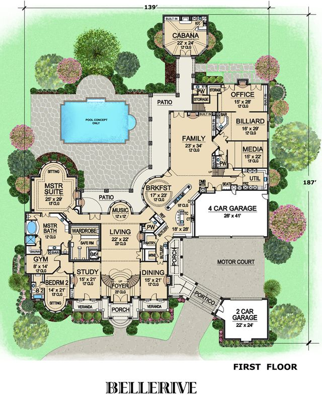 Dream Home Designs: 344 Best Images About Big House Plans On Pinterest