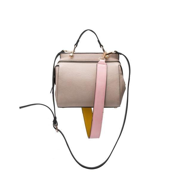 Melie Bianco | Noelle | Vegan Leather Satchel/Shoulder/Crossbody | Bone | Vegan Handbag | Vegan Purse | Vegan Fashion | Cruelty Free Handbags | Shop KIND | KIND Style
