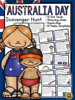 Australia Day fact cards will take your students on a Scavenger Hunt for interesting facts on why and how Australia Day is celebrated in Australia.  https://www.teacherspayteachers.com/Product/AUSTRALIA-DAY-2307069