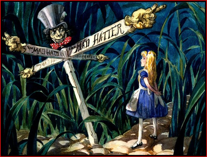 mad-hatter-and-alice.jpg (686×519): Rabbit Hole, Disney Concept Art, Animal Art, Books Illustrations, Alice In Wonderland, Mad Hatters, Disney Art, Classic Books, Aliceinwonderland