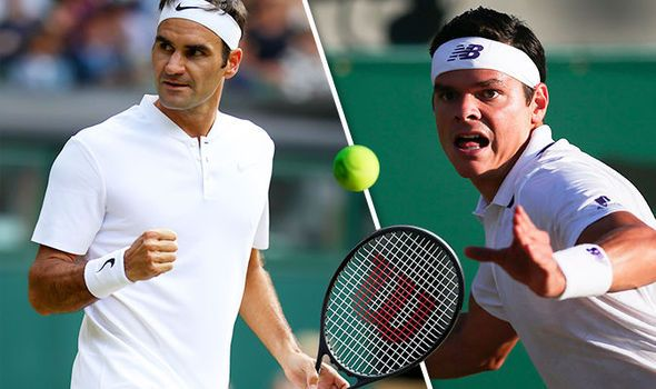 Roger Federer v Milos Raonic: Wimbledon score and latest after Andy Murray is dumped out
