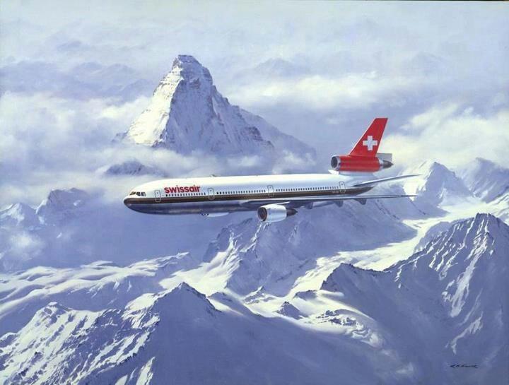 Swissair McDonnell Douglas DC-10, circa 1990s.