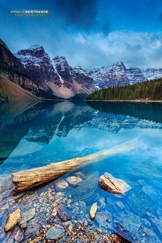 Moraine Lake - Lac Moraine dans le parc du Banff