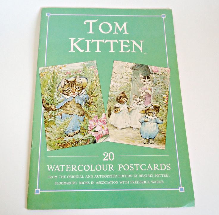 Tom Kitten 20 Watercolour Postcards Book Beatrix Potter 1995 by TreasureCoveAlly on Etsy